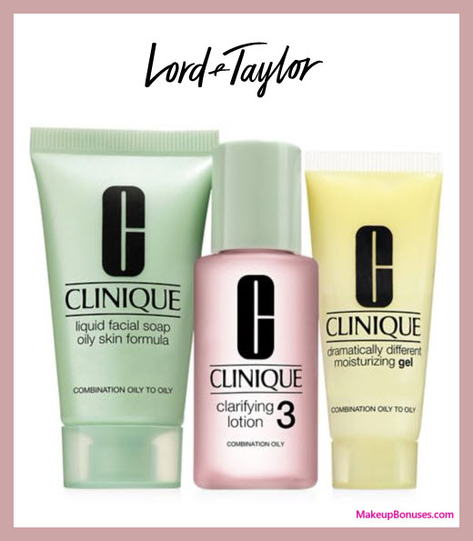 Receive a free 3-pc gift with Clinique foundation purchase