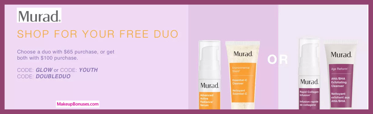 Receive a free 4-pc gift with $100 Murad purchase