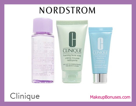 Receive a free 3-pc gift with $3 Clinique purchase