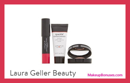 Receive a free 3-pc gift with $40 Laura Geller purchase