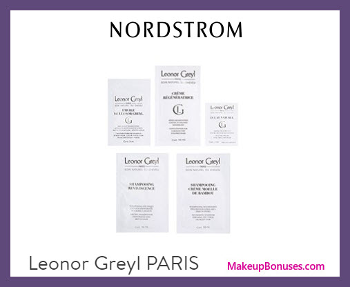 Receive a free 5-pc gift with $50 Leonor Greyl purchase