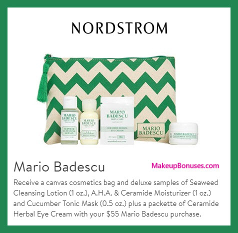 Receive a free 5-pc gift with $55 Mario Badescu purchase