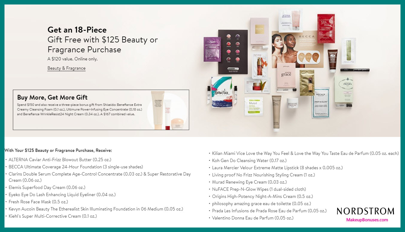 Receive a free 18-pc gift with $125 Multi-Brand purchase