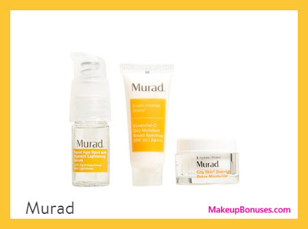 Receive a free 3-pc gift with $85 Murad purchase