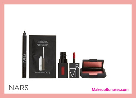 Receive a free 4-pc gift with $125 NARS purchase