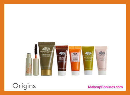 Receive a free 6-pc gift with $65 Origins purchase