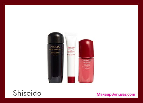 Receive a free 3-pc gift with $45 Shiseido purchase