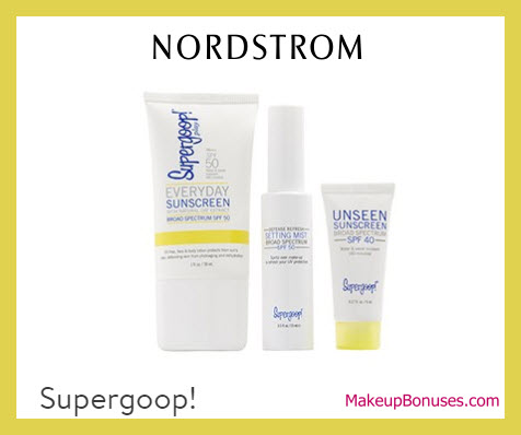 Receive a free 3-pc gift with $50 Supergoop purchase
