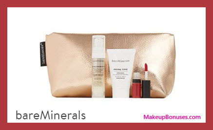 Receive a free 4-pc gift with $50 bareMinerals purchase