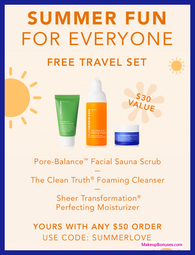 Receive a free 3-pc gift with $50 OLE HENRIKSEN purchase