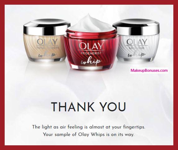 OLAY Whips Free Sample - MakeupBonuses.com