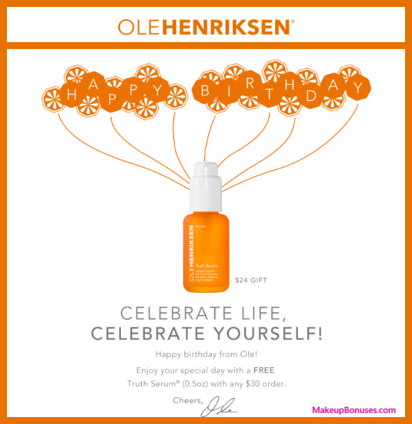 OLE HENRIKSEN Birthday Gift - MakeupBonuses.com #olehenriksen