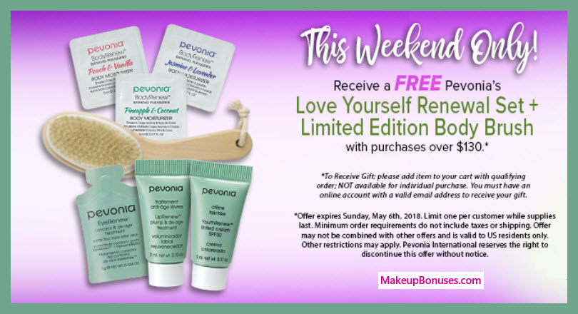 Receive a free 7-pc gift with $130 Pevonia purchase