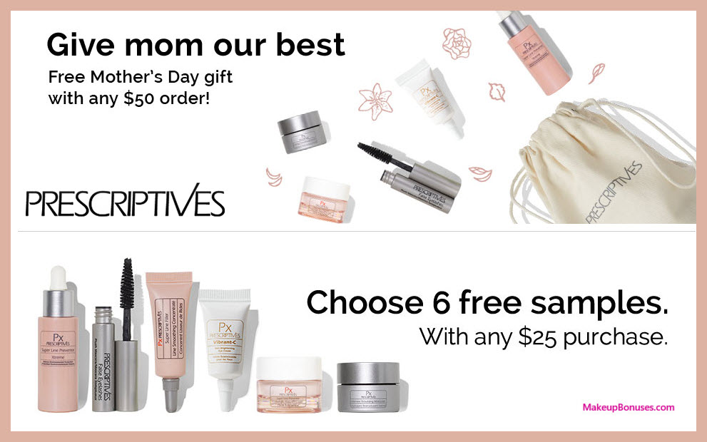 Receive a free 12-pc gift with $50 Prescriptives purchase