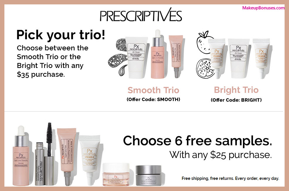 Receive a free 9-pc gift with $35 Prescriptives purchase