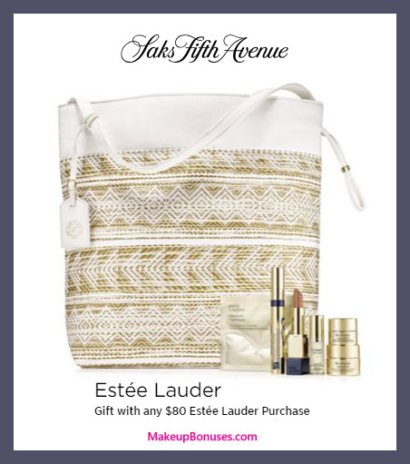 Receive a free 7-pc gift with $80 Estée Lauder purchase