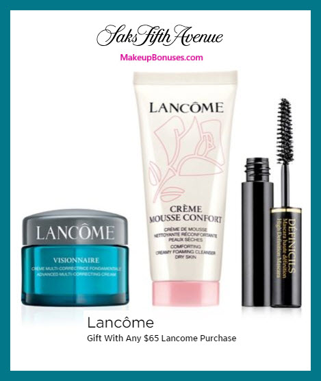 Receive a free 3-pc gift with $65 Lancôme purchase