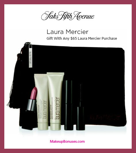 Receive a free 5-pc gift with $65 Laura Mercier purchase