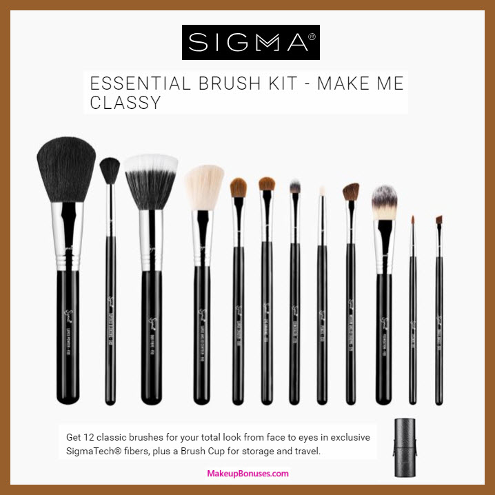 ESSENTIAL BRUSH KIT - MAKE ME CLASSY - MakeupBonuses.com