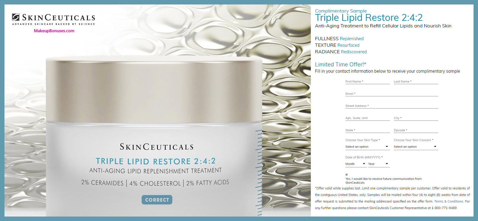 SkinCeuticals FREE sample with No Shipping Costs - MakeupBonuses.com