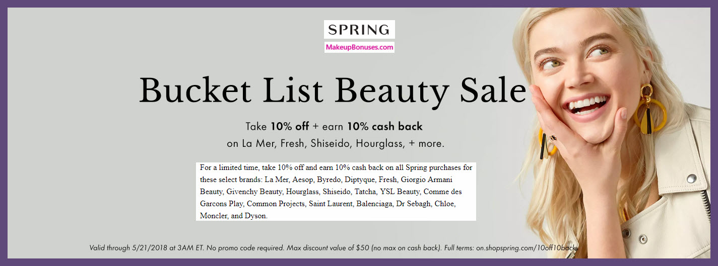 Spring Beauty Bucket List Sale - MakeupBonuses.com