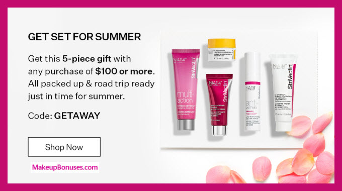 Receive a free 5-pc gift with $100 StriVectin purchase