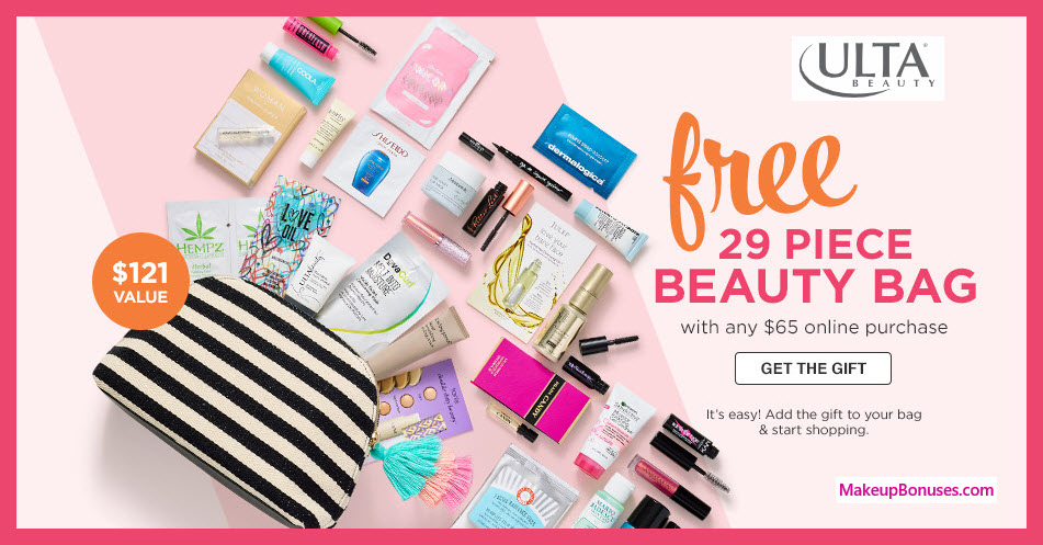 Receive a free 29-pc gift with $65 Multi-Brand purchase