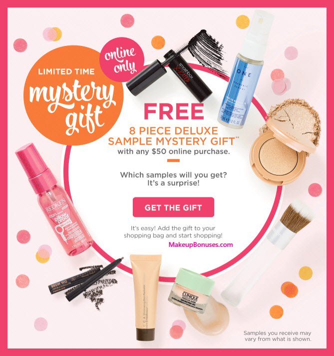Receive a free 8-pc gift with $50 Multi-Brand purchase