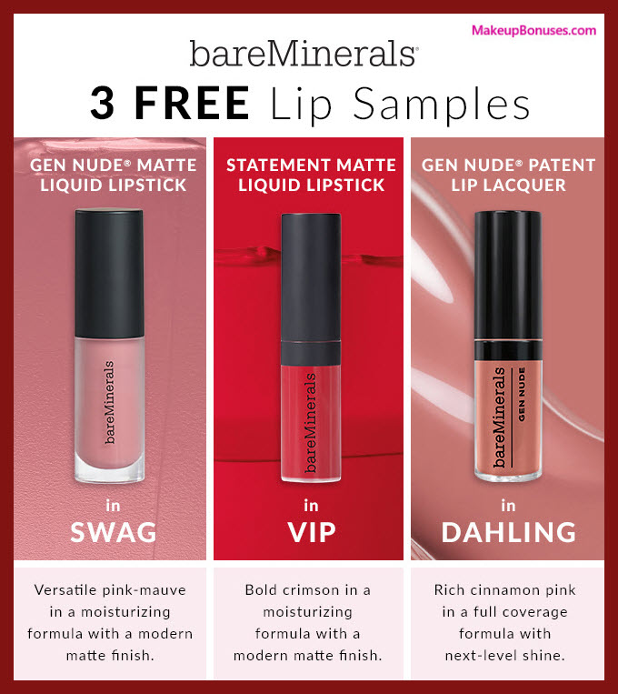Receive a free 3-pc gift with $60 bareMinerals purchase