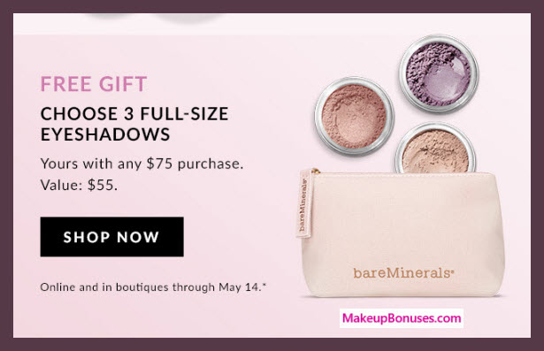 Receive your choice of 4-pc gift with $75 bareMinerals purchase