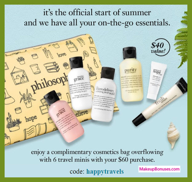 Receive a free 7-pc gift with $60 philosophy purchase