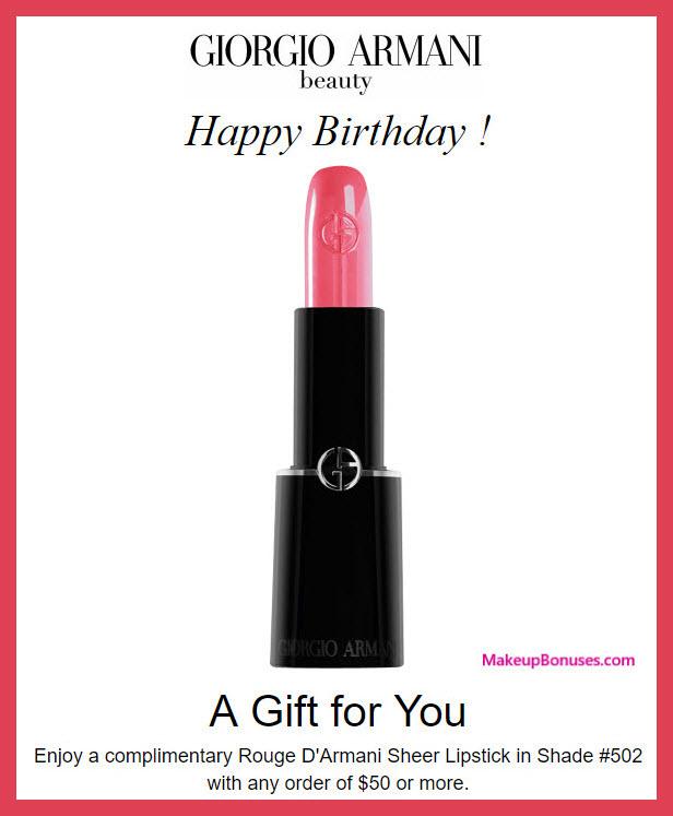 Giorgio Armani Birthday Gift - MakeupBonuses.com #GiorgioArmani