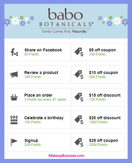Babo Botanicals Birthday Gift - MakeupBonuses.com #babobotanicals