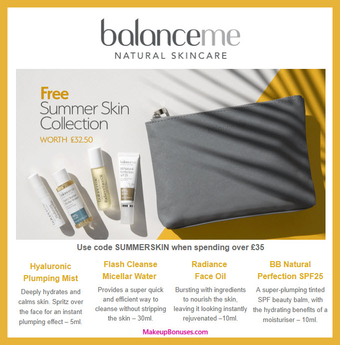 Receive a free 5-pc gift with ~$47 (35 GBP) purchase