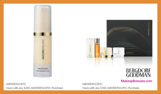 Receive a free 5-pc gift with $350 AMOREPACIFIC purchase