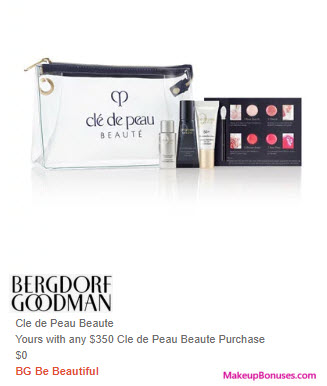 Receive a free 5-pc gift with $350 Clé de Peau Beauté purchase