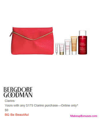 Receive a free 6-pc gift with $175 Clarins purchase