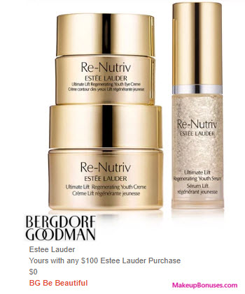 Receive a free 3-pc gift with $100 Estée Lauder purchase