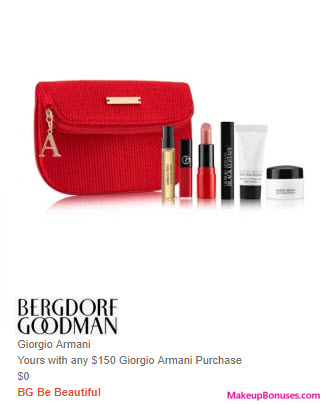 Receive a free 6-pc gift with $150 Giorgio Armani purchase