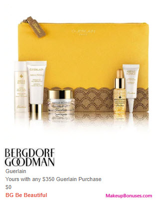 Receive a free 6-pc gift with $350 Guerlain purchase