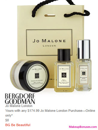Receive a free 3-pc gift with $175 Jo Malone purchase