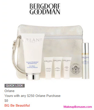 Receive a free 6-pc gift with $250 Orlane purchase