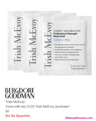 Receive a free 3-pc gift with $125 Trish McEvoy purchase