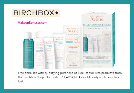 Receive a free 5-pc gift with $50 of full size products purchase