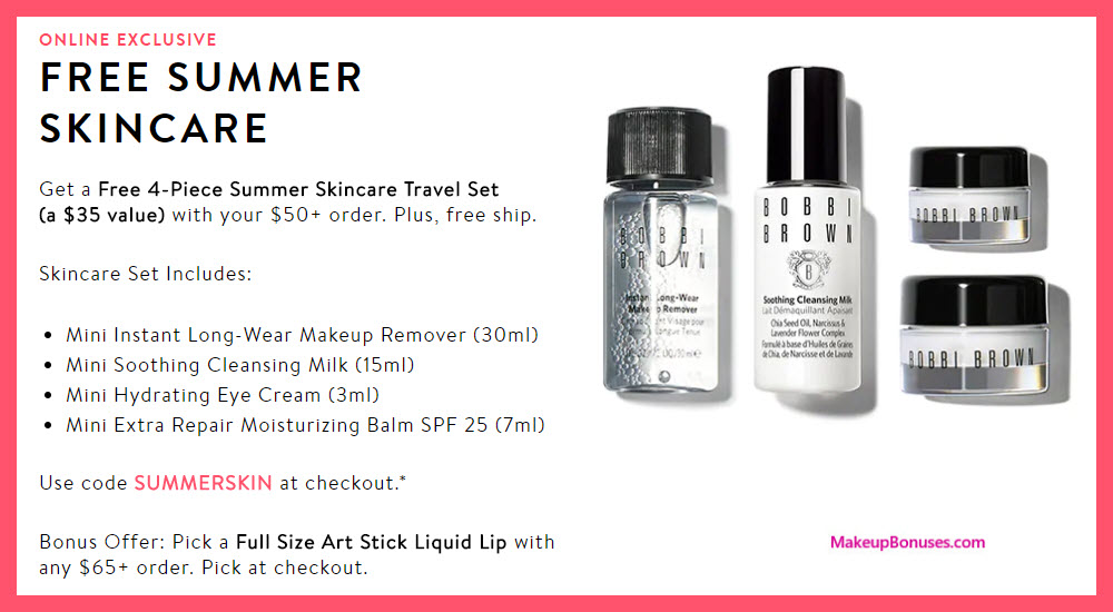 Receive a free 5-pc gift with $65 Bobbi Brown purchase