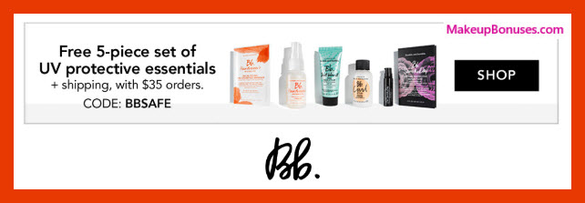 Receive a free 5-pc gift with $35 Bumble and bumble purchase