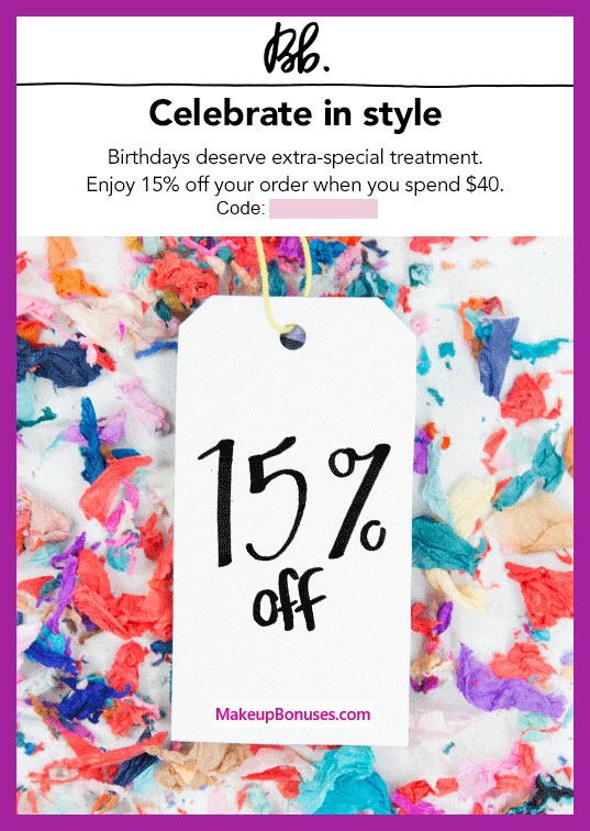 Bumble and bumble Birthday Gift - MakeupBonuses.com #bumbleandbumble