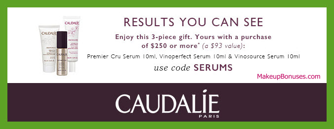 Receive a free 3-pc gift with $250 Caudalie purchase