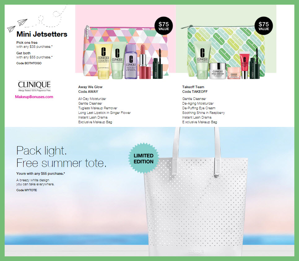 Receive a free 6-pc gift with $35 Clinique purchase
