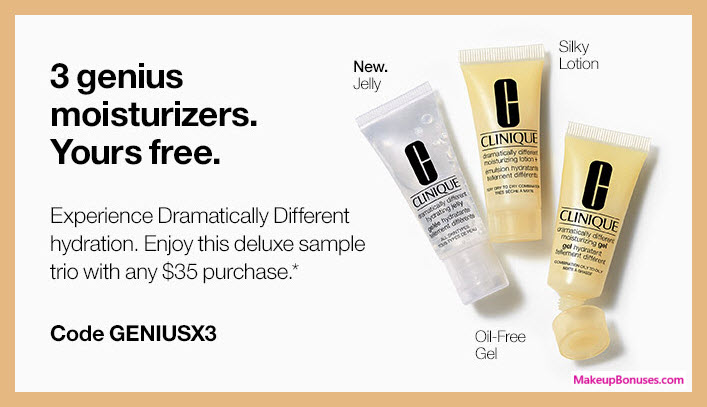 Receive a free 3-pc gift with $35 Clinique purchase